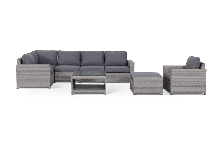 Kensington Grey 8 Piece Sectional Set