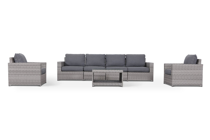 Kensington Grey 7 Piece Outdoor Large Sofa Set
