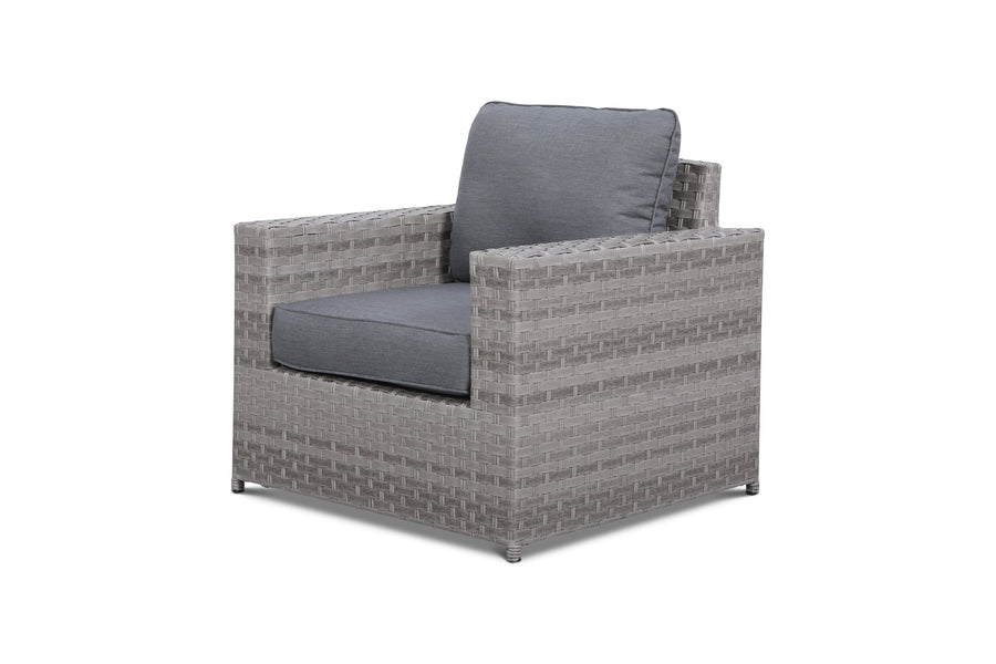 Kensington Grey Club Chair/Ottoman Seat Cushion