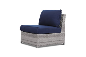 Kensington Navy Outdoor Wicker Armless Chair