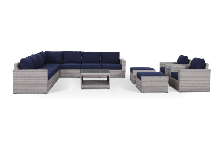 Kensington Navy 12 Piece Large Sectional Set