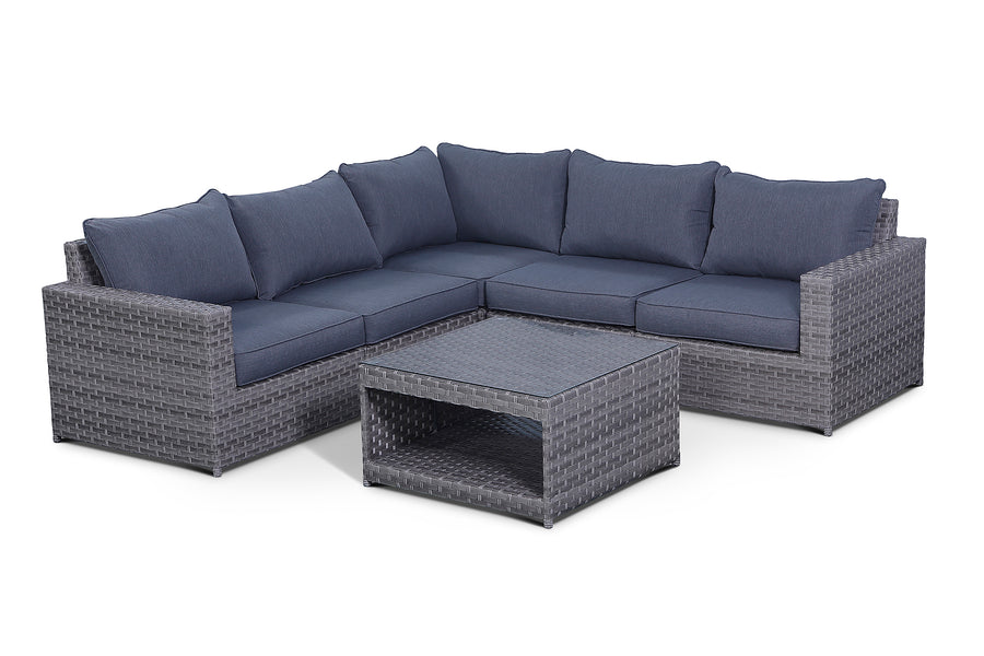 Kensington Grey 6 Piece Outdoor Sectional Set