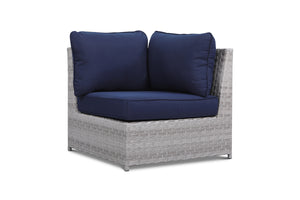 Kensington Navy Outdoor Wicker Corner Chair