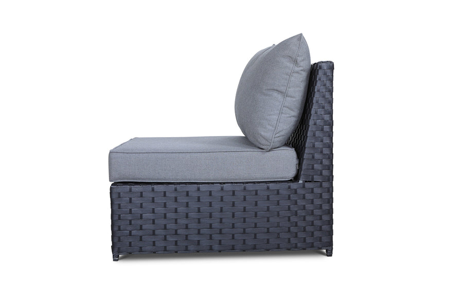 Cascade Armless Middle Chair with Sunbrella Cushions