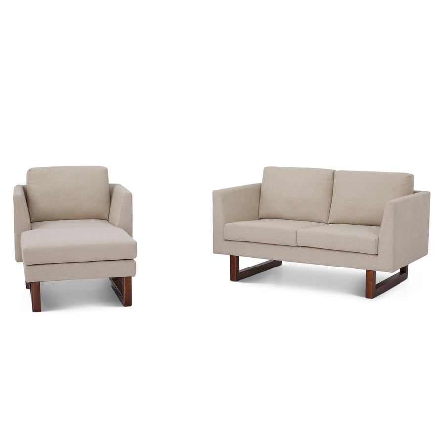 Hayden Loveseat, Chair and Ottoman Living room set - SunHaven Home