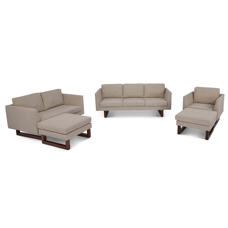 Hayden Sofa, Loveseat, Chair and 2 ottomans living room set - SunHaven Home