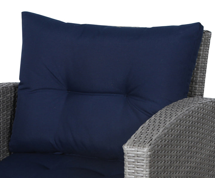 Stamford Navy Club Chair Back Cushion - SunHaven Home