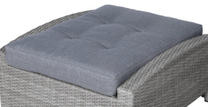 Stamford Grey Ottoman Seat Cushion - SunHaven Home