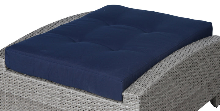 Stamford Navy Ottoman Seat Cushion - SunHaven Home