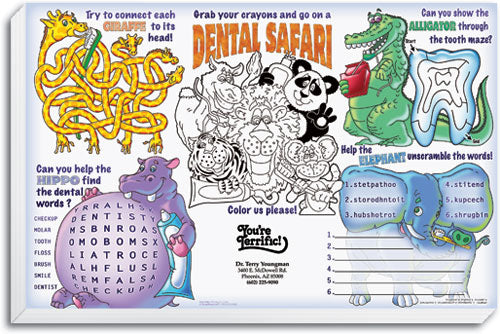 Dental Safari Kid's Activity Sheet