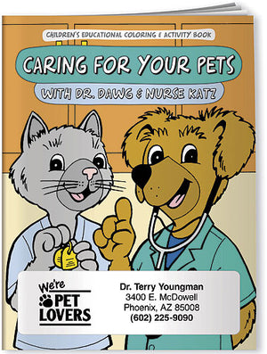 Caring For Your Pets Coloring Book