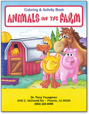 Animals On The Farm Children Coloring Books