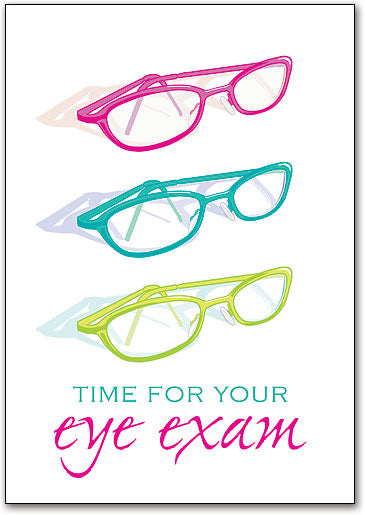 Time for Eye Exam Postcard