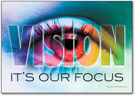 Vision is Our Focus Postcard