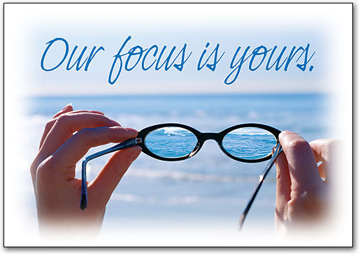 Our Focus Is Yours Postcard