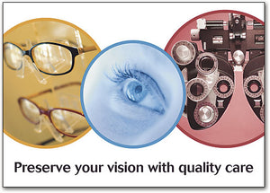 Vision with Quality Care Standard Postcard