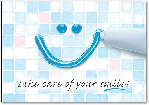 Toothpaste Smile Postcard