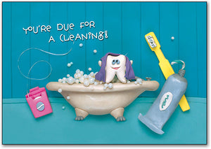 Tooth In Tub Postcard