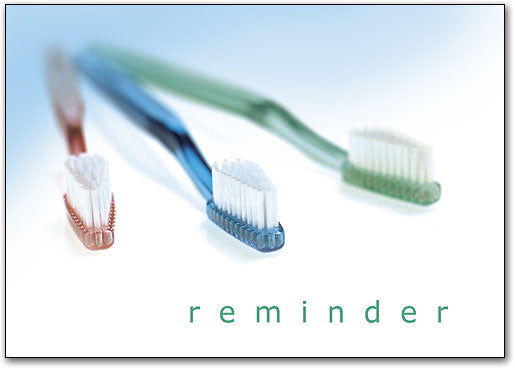Reminder/Three Brushes Postcard