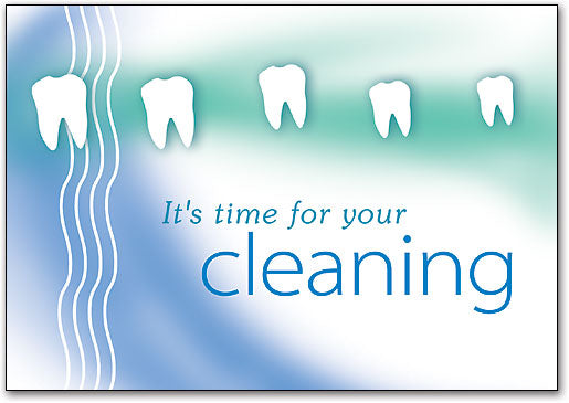 Teeth Blue/Green Cleaning Postcard