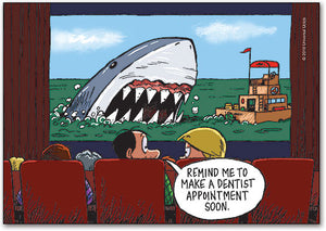 Jaws - Dentist Appointment Postcard