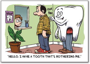 Tooth Bothering Me Postcard