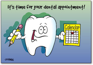 Tooth With Calendar Postcard