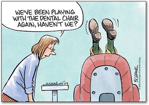 Playing with Dental Chair Postcard