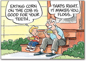 Corn Makes You Floss Postcard