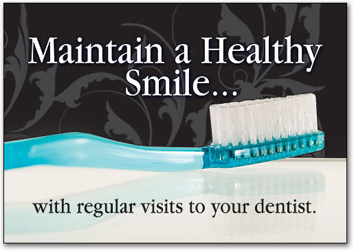 Maintain a Healthy Smile Postcard