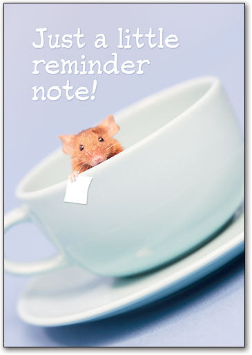 Mouse Reminder Note Postcard