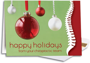 Happy Holidays Spine Traditional Holiday Folding Card