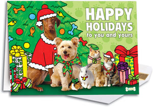 Pawtastic Holiday Group Traditional Folding Card