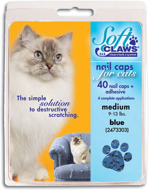Soft Claws Blue Cat Nail Caps Large
