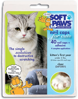 Soft Paws Clear Cat Nail Caps Medium