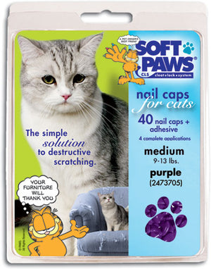 Soft Paws Purple Cat Nail Caps Medium