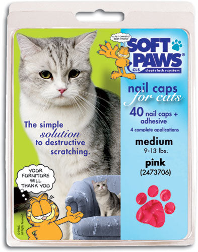 Soft paws Pink Cat Nail Caps Large