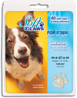 Soft Claws Clear Nail Dog Caps XLarge