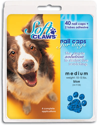 Soft Claws Blue Nail Dog Caps Medium