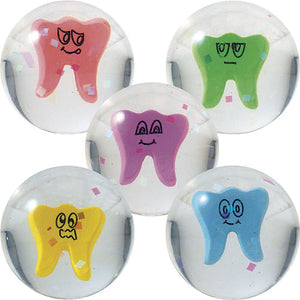 38mm Assorted Wacky Tooth Superballs