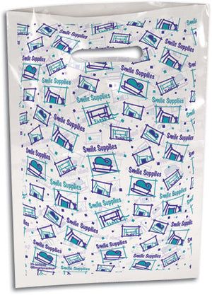 Cropped Boxes Scatter Print Supply Bag Small