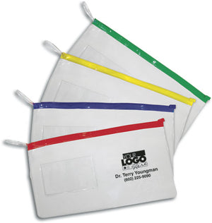 Large Zipper Pouches With Business Card Slot