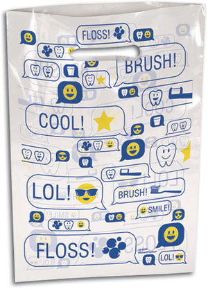 Smile Texts Scatter Print Supply Bag