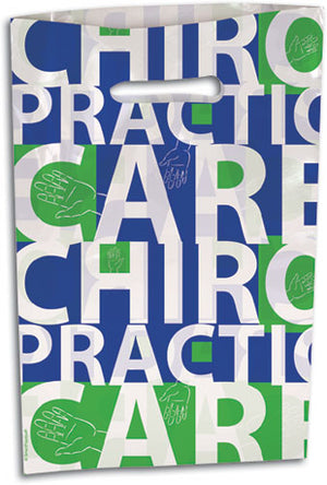 Large Blue/Green Chiro Hands Scatter Print Supply Bag