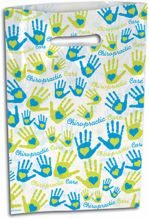 Large Hearts and Hands Scatter Print Supply Bag