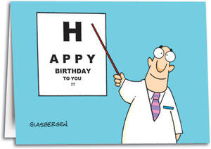 Eye Chart Birthday Folding Card