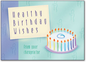 Healthy Birthday Wishes/Chiro Postcard