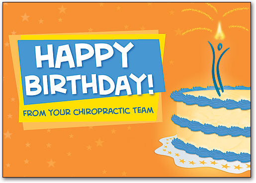 Happy Birthday/Chiro Cake Postcard