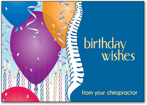 Birthday Wishes Spine Postcard