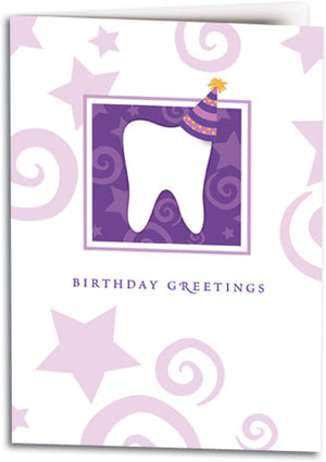 Birthday Tooth/Hat Folding Card